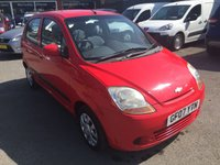 USED 2007 07 CHEVROLET MATIZ 1.0 SE 5d 65 BHP IN RED IN IMMACULATE CONDITION AND ONLY 75000 MILES APPROVED CARS ARE PLEASED TO OFFER THIS CHEVROLET MATIZ 1.0 SE 5 DOOR 65 BHP IN RED IN IMMACULATE CONDITION AND ONLY 75000 MILES WITH A FULL SERVICE HISTORY THE CAR IS SO CLEAN ITS A TRUE CREDIT TO ITS FORMER KEEPER BUT DUE TO ITS AGE IS BEING OFFERED AS A TRADE CLEARANCE CAR WITH A LONG MOT.