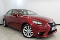 USED 2015 15 LEXUS IS 2.5 300H EXECUTIVE EDITION 4DR AUTOMATIC 179 BHP FULL LEXUS SERVICE HISTORY + HEATED LEATHER SEATS + SAT NAVIGATION + PARKING SENSOR + BLUETOOTH + CRUISE CONTROL + MULTI FUNCTION WHEEL + ALLOY WHEELS