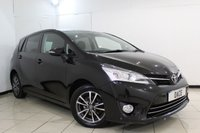 USED 2014 14 TOYOTA VERSO 2.0 ICON D-4D 5DR 122 BHP TOYOTA SERVICE HISTORY + SAT NAVIGATION + PARKING SENSOR + BLUETOOTH + CRUISE CONTROL + CLIMATE CONTROL + 16 INCH ALLOY WHEELS