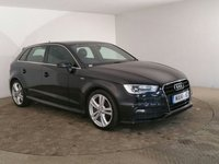 USED 2014 14 AUDI A3 1.6 TDI S LINE 5DR 104 BHP AUDI SERVICE HISTORY + HALF LEATHER SEATS + AIR CONDITIONING + RADIO/CD + 18 INCH ALLOY WHEELS