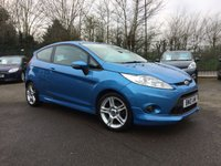 2010 FORD FIESTA 1.6 ZETEC S 3d WITH VERY LOW MILEAGE AND SERVICE HISTORY  £5250.00