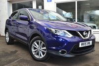 USED 2015 15 NISSAN QASHQAI 1.5 DCI ACENTA SMART VISION 5d 108 BHP VERY VERY  LOW MILEAGE QASHQAI WITH SMART VISION PACK