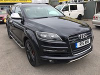 USED 2007 AUDI Q7 3.0 TDI QUATTRO LIMITED EDITION 5 DOOR AUTOMATIC 234 BHP 7 SEATS IN BLACK APPROVED CARS ARE PLEASED TO OFFER THIS  AUDI Q7 3.0 TDI QUATTRO LIMITED EDITION 5 DOOR AUTOMATIC 234 BHP IN BLACK WITH A GREAT SPEC INCLUDING 7 SEATS,SAT NAV,REAR ENTERTAINMENT DVD,UPGRADED ALLOYS AND MUCH MUCH MORE WITH A FULL SERVICE HISTORY WITH 6 SERVICE STAMPS.