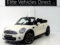 2013 MINI CONVERTIBLE 1.6 COOPER 2d AUTO  £SOLD