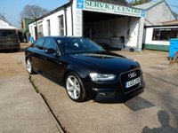 USED 2013 13 AUDI A4 1.8 TFSI S LINE S/S 4d AUTO 168 BHP AIR CON,XENONS,TWO KEYS,PARKING AID,CRUISE CONTROL,