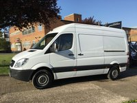 USED 2012 12 MERCEDES-BENZ SPRINTER 2.1 313CDI MWB HIGH ROOF 130BHP. LOW 57,000 MILES. 1 OWNER. VERY LOW 57,000 MILES. LOW RATE FINANCE.