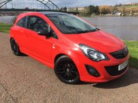 USED 2013 13 VAUXHALL CORSA 1.2 LIMITED EDITION 3d 83 BHP **FULL SPORTS BLACK PACK**
