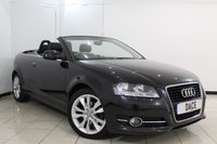USED 2012 12 AUDI A3 CABRIOLET 1.6 TDI SPORT 2DR 103 BHP CABRIOLET PARKING SENSOR + MULTI FUNCTION WHEEL + CLIMATE CONTROL + AUXILIARY PORT  + 17 INCH ALLOY WHEELS