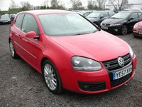 USED 2007 57 VOLKSWAGEN GOLF 2.0 GT SPORT TDI 3d 138 BHP 2 Previous owners - Gt sport model