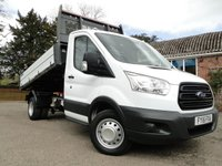 2015 FORD TRANSIT 350 Alloy Body 1 Stop Dropside TIPPER L2/H1 £12995.00