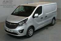 USED 2017 17 VAUXHALL VIVARO 1.6 2900 SPORTIVE 120 BHP SWB LOW ROOF A/C E6 ONE OWNER FROM NEW, MANUFACTURER WARRANT UNTIL 3/07/2020