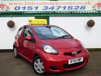 USED 2012 61 TOYOTA AYGO 1.0 VVT-I ICE 3d 68 BHP FULL HISTORY, 2 OWNERS, £20 ROAD TAX