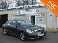 USED 2012 12 MERCEDES-BENZ E CLASS 2.1 E220 CDI BLUEEFFICIENCY EXECUTIVE SE 4d AUTO 170 BHP 5 Service Stamps .Heated seats ,Parking sensors, Bluetooth