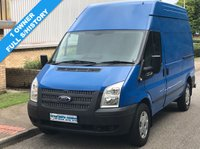 2013 FORD TRANSIT 2.2 FWD 350 MWB HIGH ROOF 100 BHP 6 SPEED  £6495.00