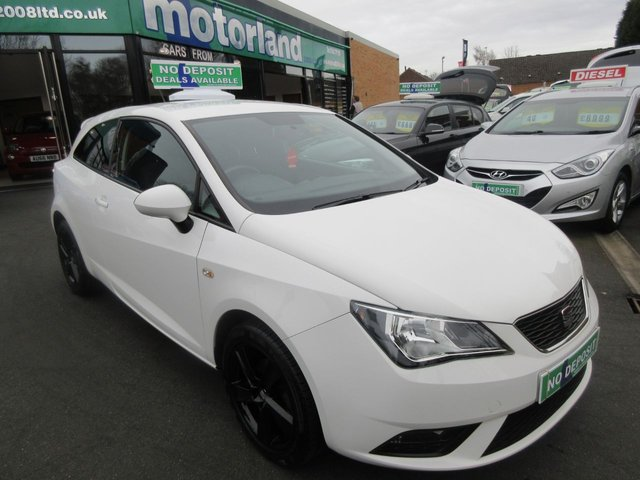 USED 2013 13 SEAT IBIZA 1.4 TOCA 3d 85 BHP .. CALL 01543 379066 TO ARRANGE TEST DRIVE TODAY