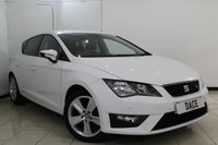 USED 2015 15 SEAT LEON 1.4 TSI FR 5DR 150 BHP SERVICE HISTORY + HALF LEATHER SEATS + BLUETOOTH + CRUISE CONTROL + MULTI FUNCTION WHEEL + CLIMATE CONTROL + 17 INCH ALLOY WHEELS