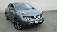 USED 2015 15 NISSAN JUKE 1.2 TEKNA DIG-T 5DR 115 BHP HEATED LEATHER SEATS + SAT NAVIGATION + REVERSE CAMERA + BLUETOOTH + CRUISE CONTROL + MULTI FUNCTION WHEEL + CLIMATE CONTROL + 17 INCH ALLOY WHEELS