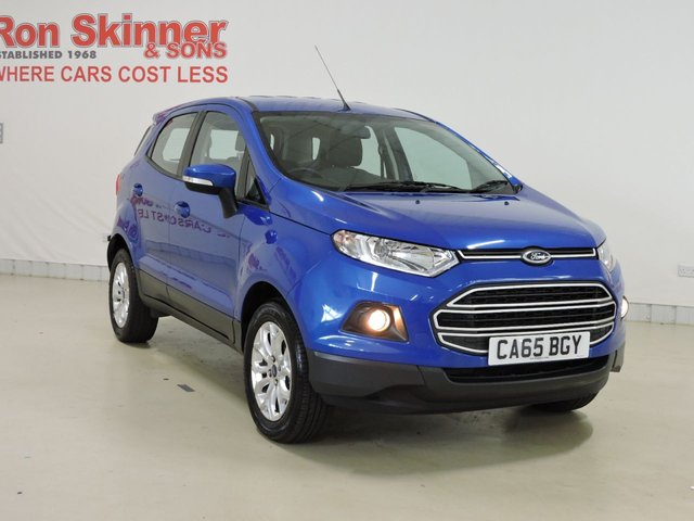 View our 2015 65 FORD ECOSPORT 1.5 ZETEC 5d 110 BHP