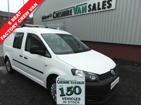 USED 2014 14 VOLKSWAGEN CADDY MAXI 1.6 C20 TDI KOMBI CREW CAB 102 BHP 5 SEAT 1 OWNER FROM NEW FULL SERVICE HISTORY