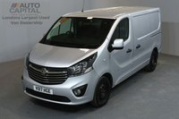USED 2017 17 VAUXHALL VIVARO 1.6 2900 SPORTIVE 120 BHP SWB LOW ROOF A/C E6 ONE OWNER FROM NEW, MANUFACTURER WARRANT UNTIL 20/04/2020
