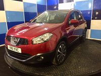 "USED 2011 11 NISSAN QASHQAI 1.6 N-TEC 5d 117 BHP A truely stunning example of this highly sought after family diesel crossover finished in unmarked metalic red paintwork contrasted with the diamond cut 18"" alloy wheels.This car comes with all the usual refinements including sat nav,bluetooth,cruise control/speed limiter panoramic glass roof dual zone climate control plus lots more. This car looks and drives superbly definitely one to be concidered,particularly with all the package that is included in asking price."