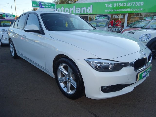 USED 2014 14 BMW 3 SERIES 2.0 318D SE 4d 141 BHP FULL SCREEN SAT NAV....FULL LEATHER....HEATED SEATS...£30 A YEAR ROAD TAX....TEST DRIVE TODAY CALL 01543 877320