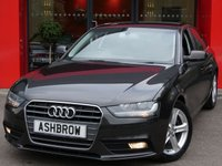 USED 2015 15 AUDI A4 2.0 TDI ULTRA SE TECHNIK 4d 163 S/S £20 TAX, HDD SAT NAV WITH JUKEBOX & DVD PLAYBACK (MMI NAVIGATION PLUS), FULL LEATHER INTERIOR, DAB RADIO, WLAN, BLUETOOTH MOBILE PHONE PREP WITH MUSIC STREAMING, AUDI MUSIC INTERFACE FOR IPOD / USB DEVICES (AMI), 2x SD CARD READERS, FRONT & REAR PARKING SENSORS W/ DISPLAY, LEATHER MULTI FUNCTION STEERING WHEEL, CRUISE CONTROL, LIGHT & RAIN SENSORS WITH AUTO DIMMING REAR VIEW MIRROR, TYRE PRESSURE MONITORING SYSTEM, DUAL CLIMATE A/C,DIS TRIP COMPUTER, ELECTRIC HEATED DOOR MIRRORS, VAT QUALIFYING.