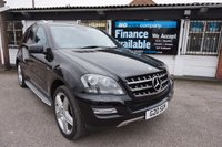 "USED 2011 MERCEDES-BENZ M CLASS 3.0 ML300 CDI BLUEEFFICIENCY GRAND EDITION 5d AUTO 204 BHP 21"" AMG Alloys, Sat Nav, Black Lthr Heated Elec Seats"