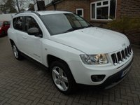 USED 2012 12 JEEP COMPASS 2.1 CRD LIMITED 4WD 5d 161 BHP SAT NAV