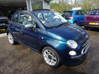 USED 2012 FIAT 500 0.9 TWINAIR CONVERTIBLE LOUNGE 3d 85 BHP Finished in rare 'Epic Blue', One Lady Owner from new, Fiat Service History + Just Serviced by ourselves, Minimum 9 months MOT, Excellent fuel economy! ZERO Road Tax!