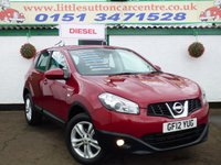 USED 2012 12 NISSAN QASHQAI 1.5 ACENTA DCI 5d 110 BHP DIESEL, FULL HISTORY, FINANCE AVAILABLE