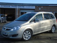 USED 2010 60 VAUXHALL ZAFIRA 1.7 DESIGN CDTI ECOFLEX 5d 108 BHP GREAT VALUE 7 SEATER+2 OWNERS