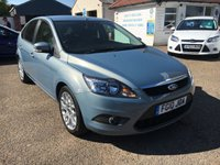 USED 2010 10 FORD FOCUS 1.8 ZETEC 5d 125 BHP FULL FORD SERVICE HISTORY X 7 STAMPS / PARKING SENSORS / PRIVACY GLASS