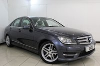 USED 2013 13 MERCEDES-BENZ C CLASS 2.1 C220 CDI BLUEEFFICIENCY AMG SPORT 4DR AUTOMSTIC 168 BHP FULL MERCEDES SERVICE HISTORY + HALF LEATHER SEATS + PARKING SENSOR + BLUETOOTH + CRUISE CONTROL + MULTI FUNCTION WHEEL + CLIMATE CONTROL + ALLOY WHEELS