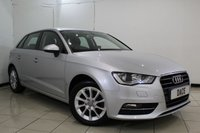 USED 2014 14 AUDI A3 2.0 TDI SE 5DR AUTOMATIC 148 BHP SERVICE HISTORY + BLUETOOTH + PARKING SENSOR + MULTI FUNCTION WHEEL + AIR CONDITIONING + 16 INCH ALLOY WHEELS