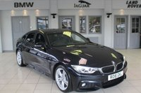 USED 2016 16 BMW 4 SERIES 2.0 420D M SPORT GRAN COUPE 4DR 188 BHP FULL LEATHER INTERIOR + FULL BMW SERVICE HISTORY + PRO SATELLITE NAVIGATION + XENON HEADLIGHTS + £30 ROAD TAX + HEATED SPORT SEATS + BLUETOOTH + CRUISE CONTROL + DAB RADIO + PARKING SENSORS + 18 INCH ALLOYS