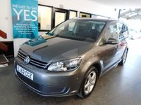 USED 2012 62 VOLKSWAGEN TOURAN 1.6 SE TDI BLUEMOTION TECHNOLOGY 5d 103 BHP One owner from new, full service history, December Mot. Huge specification