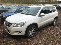 2010 VOLKSWAGEN TIGUAN 2.0 SE TDI BLUEMOTION TECHNOLOGY 5d 140 BHP