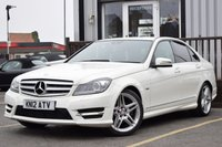 USED 2012 12 MERCEDES-BENZ C CLASS 2.1 C220 CDI BLUEEFFICIENCY SPORT 4d 168 BHP SERVICE HISTORY 4 STAMPS,satnav,front and rear parking sensors,bluetooth