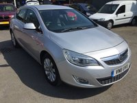 2011 VAUXHALL ASTRA 2.0 ELITE CDTI 5d AUTO 157 BHP IN METALLIC SILVER WITH FULL SERVICE HISTORY £5690.00