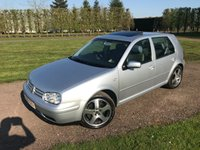 USED 2002 52 VOLKSWAGEN GOLF 2.8 V6 4MOTION 5d 197 BHP Full VW Specialist History Leather Fully Documented VW And Specialist Service History, MOT 04/19,  Recently Serviced, Fastiduously Maintained, Full Grey Leather Upholstery, Heated Seats, Climate Aircon, 6 Disc CD, RARE Alloys, Sunroof, X2 Keys, Very Very Clean And Tidy Example, Blistering Performance And Handling, Drives And Looks Perfectly, Rare Low Mileage Example With An Impressive Fully Documented Service History File, You Will Not Find A Better Example!