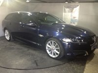 USED 2014 14 JAGUAR XF 2.2 D R-SPORT SPORTBRAKE 5d AUTO 200 BHP Bluetooth : Satellite Navigation : DAB Radio : Contrasting leather upholstery : Electric sunroof : Electrically adjustable driver and passenger seats : Electrically adjustable steering wheel : Paddleshift controls     :     Rear view camera     :     Front and rear parking sensors     : Remotely operated tailgate : Full Jaguar service history