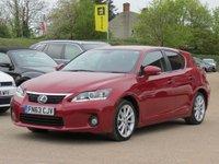 2013 LEXUS CT 1.8 200H SE 5d AUTO 136 BHP £11490.00