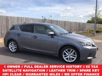 2015 LEXUS CT 1.8 200H LUXURY 5d AUTO 134 BHP £13985.00