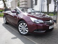 USED 2014 14 VAUXHALL CASCADA 1.4 ELITE S/S 2d 140 BHP *** FINANCE & PART EXCHANGE WELCOME *** ELECTRIC ROOF FULL BLACK LEATHER HEATED SEATS BLUETOOTH PHONE PARKING SENSORS