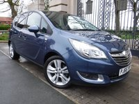 USED 2016 66 VAUXHALL MERIVA 1.4 SE 5d 118 BHP *** FINANCE & PART EXCHANGE WELCOME *** PANORAMIC ROOF BLUETOOTH PHONE FRONT & REAR PARKING SENSORS AIR/CON CRUISE CONTROL