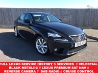 2014 LEXUS IS 2.5 300H LUXURY 4d AUTO 220 BHP £14650.00