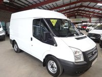 2012 FORD TRANSIT 2.2 280 100 BHP SEMI HI ROOF AIR CON & INTERNAL SHELVING*VERY LOW MILEAGE* £7250.00