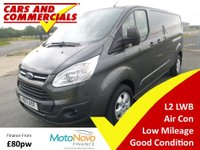 2017 FORD TRANSIT CUSTOM 290 L2 LWB Limited 130ps (Euro 6) £15800.00