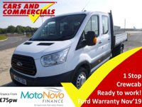 2016 FORD TRANSIT TIPPER DOUBLE CAB 350 L3 RWD DRW 1-Stop 125ps £15995.00